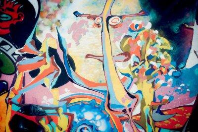 Canvastavlor Fond peinture abstraite