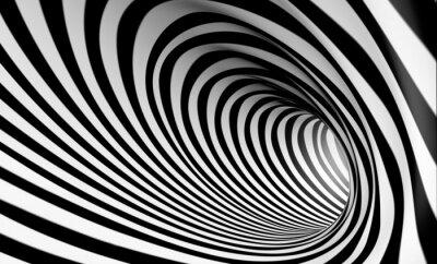 Canvastavlor Fondo espiral abstracta 3d sv blanco y neger