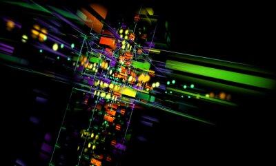 Canvastavlor fondo Tecnologico abstracto.