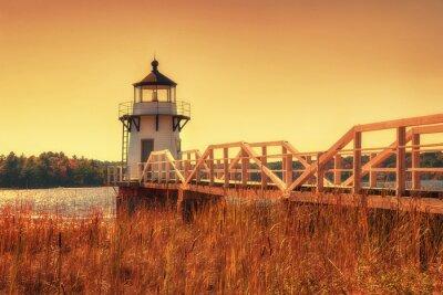 Canvastavlor Fördubbling pekar fyren i New England