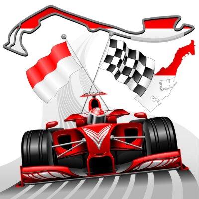 Canvastavlor Formel 1 GP Monaco