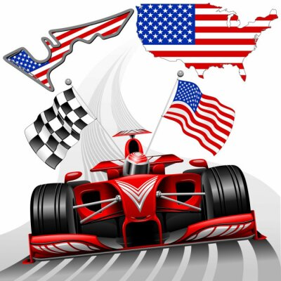 Canvastavlor Formel 1 Race Car GP Austin USA