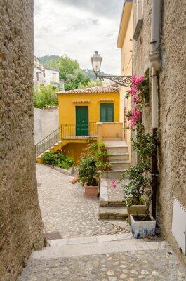 Canvastavlor Forntida gata i gamla stan i en södra Italien by