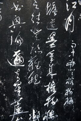 Canvastavlor Forntida kinesiska ord