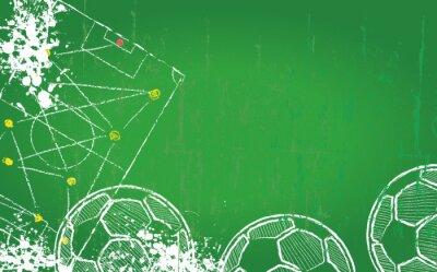 Canvastavlor Fotboll / fotboll mall, gratis kopia utrymme, vektor