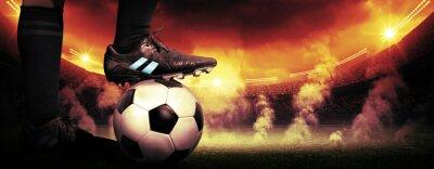 Canvastavlor fotboll protest