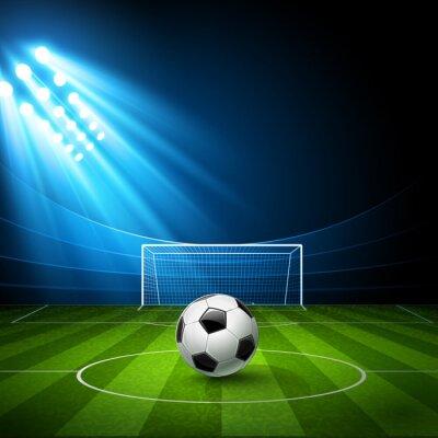 Canvastavlor Fotbollsarena med en fotboll. Vektor