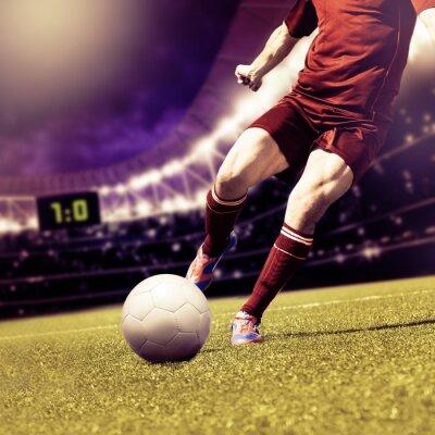 Canvastavlor fotbollsmatch