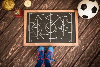 Canvastavlor Fotbollsmatch strategi