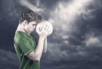 Canvastavlor Fotbollsspelare