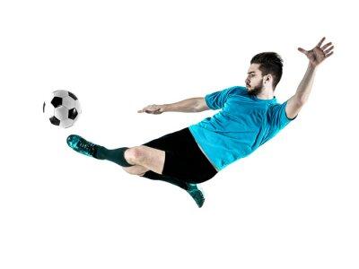 Canvastavlor Fotbollsspelare Man Isolerad