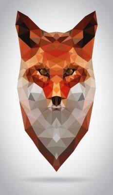 Canvastavlor Fox huvud vektor isolerade geometrisk modern illustration