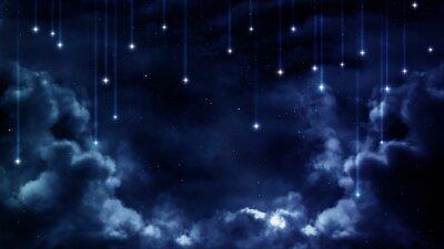 Canvastavlor Fredlig bakgrund, blå natthimlen. Element tillhandahållits av NASA