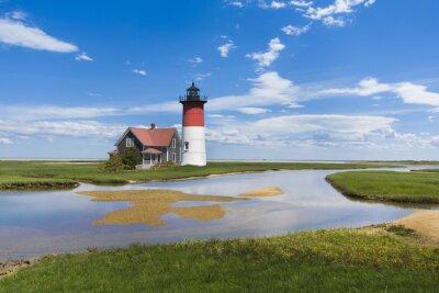 Canvastavlor Fyr på Cape Cod, MA. usa