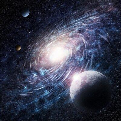 Canvastavlor galax blå kreativ