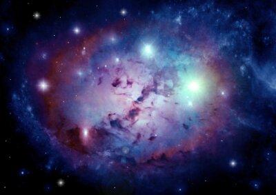 Canvastavlor galax i ett fritt utrymme