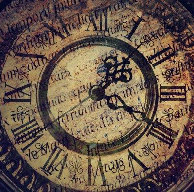 Canvastavlor Gamla antika klocka