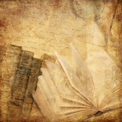 Canvastavlor gamla böcker