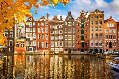 Canvastavlor Gamla byggnader i Amsterdam