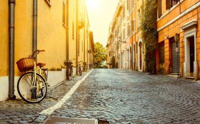 Canvastavlor Gamla gatan i Rom, Italien