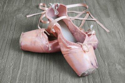 Canvastavlor gamla rosa balettskor