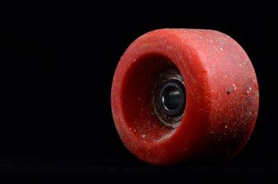 Canvastavlor Gamla tappning Consumed skate Wheel