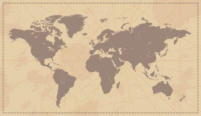 Canvastavlor Gamla Vintagevärldskarta