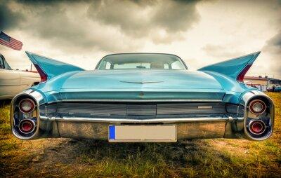 Canvastavlor Gammal amerikansk bil i vintagestil