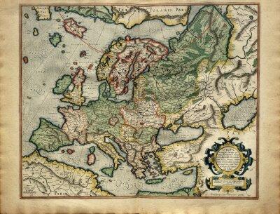 Gammal Karta Italien.Gammal Karta Av Europa Som Skrivs Ut I 1587 Av Mercator