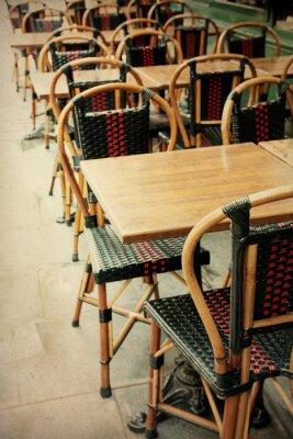 Canvastavlor gammaldags Cafe terrass