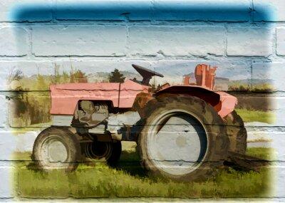 Canvastavlor Gatukonst, tracteur agricole