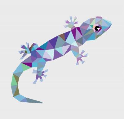 Canvastavlor Gecko triangel låg polygon vektor