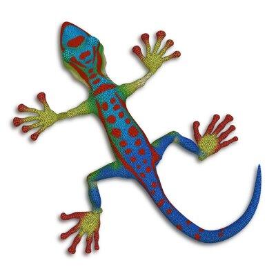 Canvastavlor geckoödla