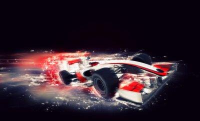 Canvastavlor Generisk F1-bil med särskild hastighet effekt