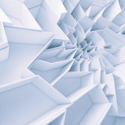 Canvastavlor Geometrisk färg abstrakta polygoner tapeter