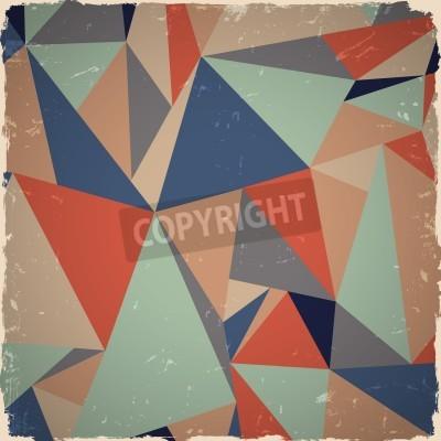 Canvastavlor Geometrisk grunge bakgrund i retro färger
