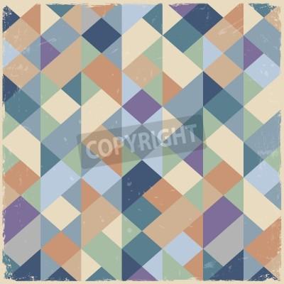 Canvastavlor Geometriska retro bakgrund i pastellfärger