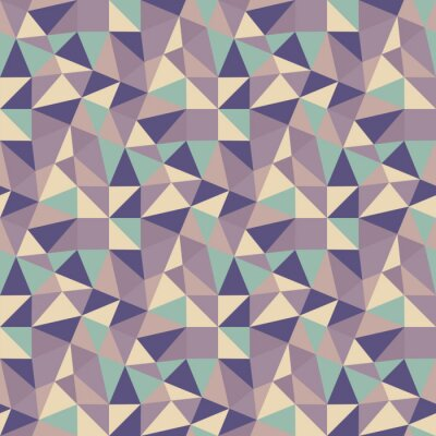 Canvastavlor Geometriska trianglar bakgrund. Mosaik.