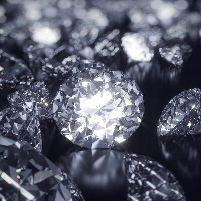 Canvastavlor Glänsande Diamanter bakgrund