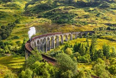Canvastavlor Glenfinnan Railway viadukt i Skottland med Jacobite ånga tåg passerar över