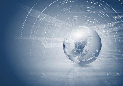 Canvastavlor Glob koncept