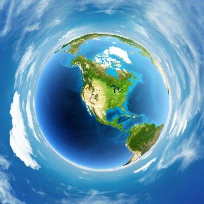 Canvastavlor Globe verklig lättnad