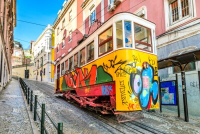 Canvastavlor Gloria Linbana, Lissabon, Portugal