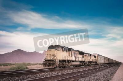 Canvastavlor Godståg kör reser Arizona öken