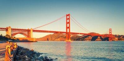 Canvastavlor Golden Gate-bron