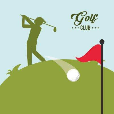 Canvastavlor Golf ikonen design