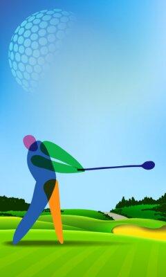 Canvastavlor Golfare på golfbanan
