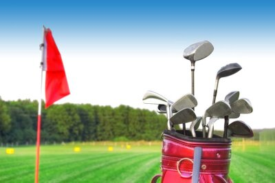Canvastavlor Golfspel.