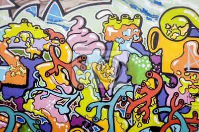 Canvastavlor Graffiti aux couleurs vives