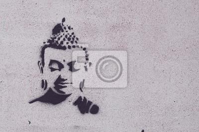 Canvastavlor graffiti bouddha